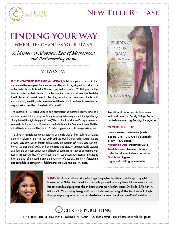 Finding Your Way When Life Changes Your Plans by V  Lakshmi